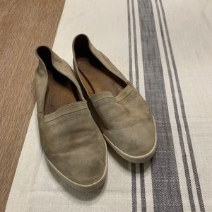 Frye suede slip on shoes